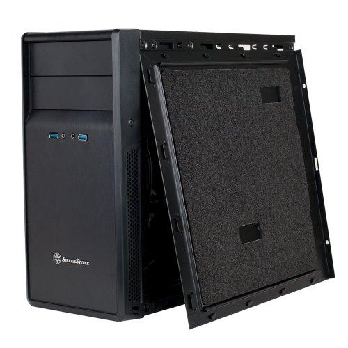 Silver Stone PRECISION SERIES マイクロATXケース ブラック SST-PS09B
