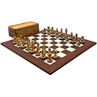 Large Hancock Striped Staunton Luxury Chess Set with 4 inch king