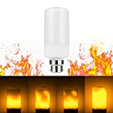 LED Flame Effect B22 Light Bulb, LOHAS LED Flickering Flame Light Bulbs, 3 Modes Creative with Flickering Lamps, Simulated Decorative Atmosphere Lights Vintage Flaming Light Bulbs for Holiday Party Christmas Home Lighting Decoration