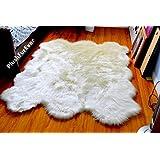 Faux Fur Sheepskin Fur Accents Shag Pelt Rug White 7 ' by Fur Accents [並行輸入品]
