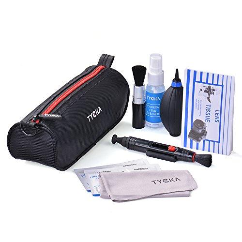 Tycka 8点セット カメラクリーニングキット メンテナンス清掃用品 防水袋付き DSLR レンズおよび電子機器用 TK004