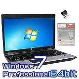 中古ノートパソコン hp ProBook 6550b 【Windows7 Pro 64bit・SSD搭載・Microsoft Office 2010付き ワード エクセル パワーポイント】