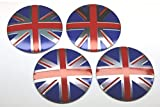 [Cat Fight] イギリス ユニオンジャック 国旗 アルミ 製 ホイール センターキャップ シール タイプ