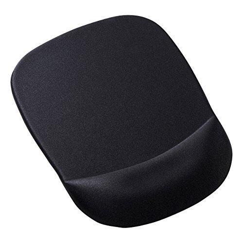 サンワサプライ 低反発リストレスト付きマウスパッド ブラック ...