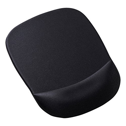 低反発リストレスト付きマウスパッド(ブラック) MPD-MU1NBK 1個