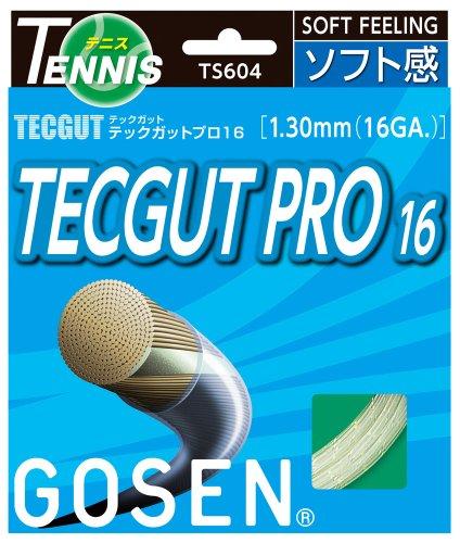 ゴーセン(GOSEN) テックガット テックプロ16 (テニス用) ナチュラル TS604NA