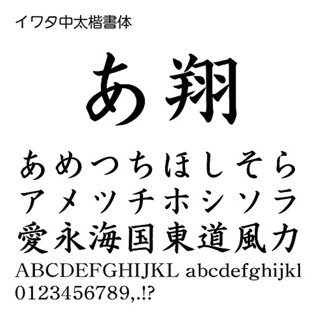発明する君主制息切れイワタ中太楷書体Pro OpenType Font for Windows [ダウンロード]