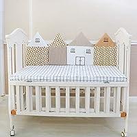 Rart ベッドレール, バンパーのすべてのラウンド ユニセックス 無衝突赤ちゃんベビーベッド バンパー アレルギーの赤ちゃんベビーベッド バンパーを防ぐ 赤ちゃんの寝具の設定 -A 120x44cm(47x17inch)