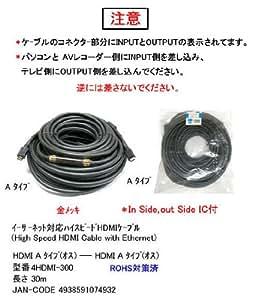 カモン 4HDMI-300 HDMIケーブルVer1.4a 30m