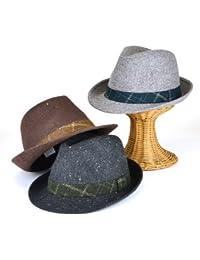 ノーブランド品 ツィードハイバック中折 ヤング帽子