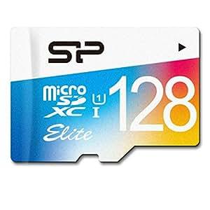 SP シリコンパワー microSDXCカード 128GB class10 UHS-1対応 最大読込75MB/s アダプタ付 永久保証 SP128GBSTXBU1V20SP