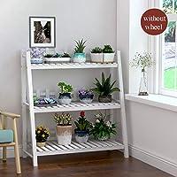 木の植物の立場の屋内、3層植物の花の棚の庭の家の花の棚の棚の梯子の表示自由で永続的な花の棚(80 * 32 * 90 Cm)