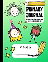 Primary Journal: Grades K-2 | Dotted Midlines and Picture Space to Draw Primary Ruled | 100 Pages | Green