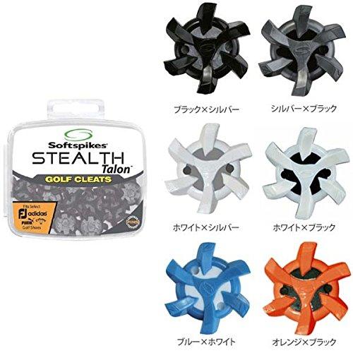 ソフトスパイク (Soft spikes) ステルス タロン(STEALTH Talon) PINS(18個入) (ADIDAS・PUMA適合品) スパイク鋲 US純正品 SS10-PINS (ホワイト×ブラック)
