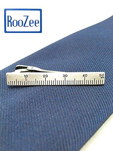 【RooZee ルーズィー】定規 ものさし 数学 算数 ユニーク 日本製 ネクタイピン タイ留め タイバー タイクリップ 人気の艶消しアンティークカラー