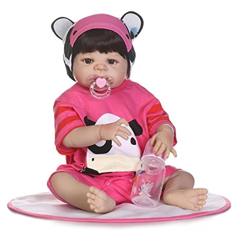 ピンキー57 cm 23インチフルボディビニールシリコンシミュレーション新生児Lifelike人形Rebornベビー人形磁気口リアルなダミー