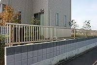 縦格子フェンス幅1998mm×高さ1000mm 自由柱仕様 ブラック色 国内メーカー製 格安アルミフェンス 囲い境界 傾斜地施工可能 外構 DIY 送料無料