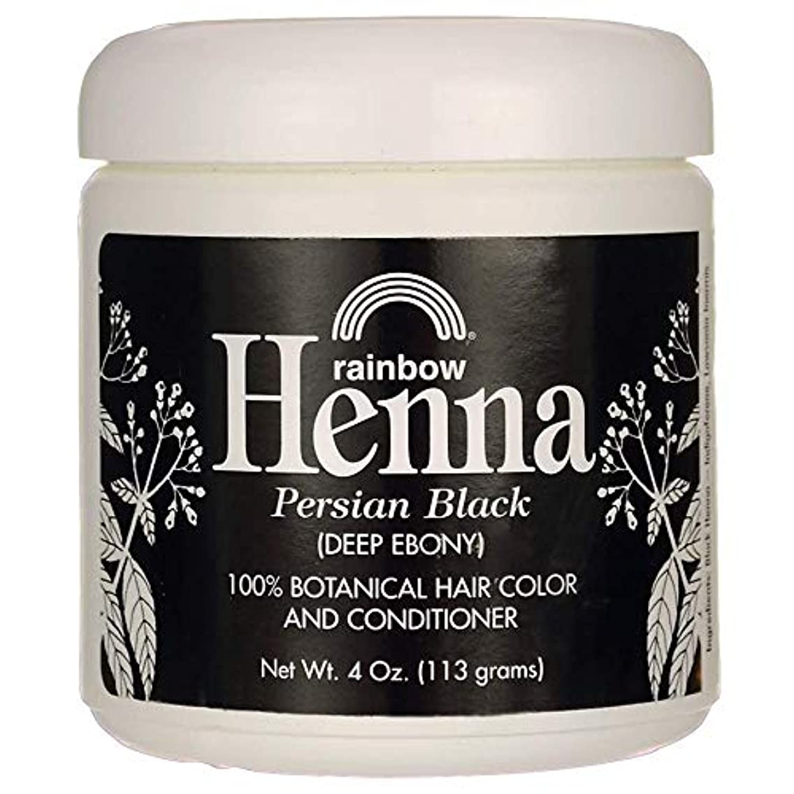 監査ペストリー不一致Rainbow Research Henna Hair Color and Conditioner Persian Black Deep Ebony - 4 oz