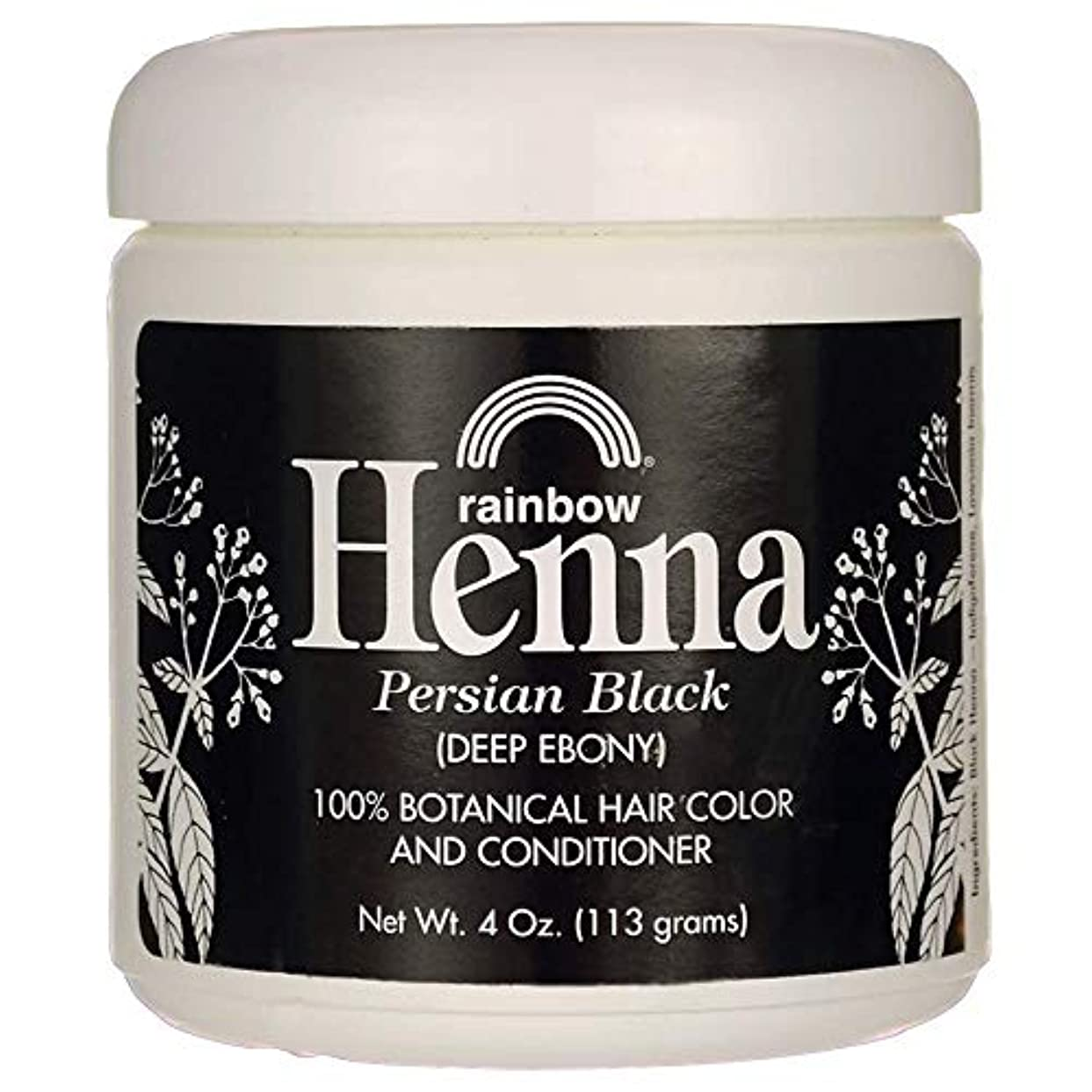 バリケード同盟毎月Rainbow Research Henna Hair Color and Conditioner Persian Black Deep Ebony - 4 oz