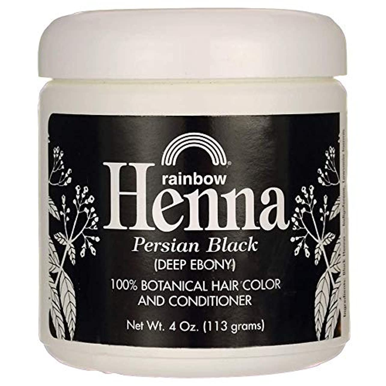 フィードオンゴミ箱値するRainbow Research Henna Hair Color and Conditioner Persian Black Deep Ebony - 4 oz
