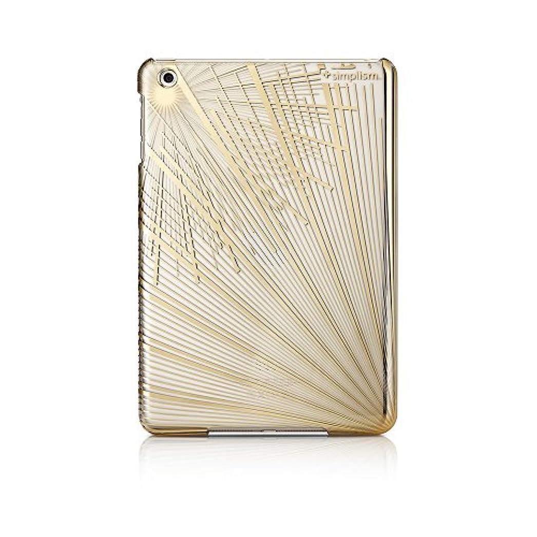 市民権通り扱いやすいSimplism iPad mini フローティングパターンカバー 保護フィルム?折り畳みスタンド付属 スパークリングライン TR-PCIPDM12-SL