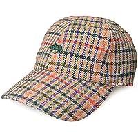 スタジオトムス HALLO SUPLLY 帽子 男女兼用 メンズ レディース GOOSE PLAID CAP SH17 秋冬ローキャップ チェック柄 ワンポイント刺繍 NEWHATTAN ニューハッタン