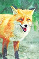 Notes: Wild Red Fox Portrait - Blank College-Ruled Lined Notebook (Student Animal Journals for Writing Journaling & Note-taking)