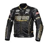 シンプソン(SIMPSON) バイク用ジャケット Premium Mesh Jacket (プレミアムメッシュジャケット) ブラック/ゴールド L SJ-8119PRM
