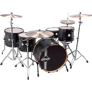 ddrum  Reflex Powerhouse 24 4pc black satin ドラムセット アルダーシェル ブラックサテン