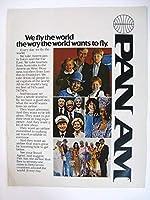1976年PAN AMパンアメリカン航空広告(パンナムバッグ 長方形 水色)