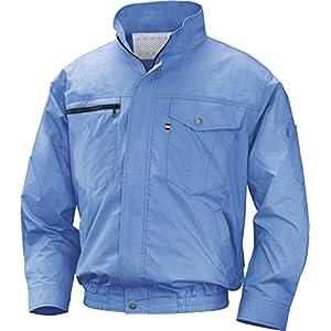 NSP 空調服バッテリーセット NA-201A ライトブルー 綿 立ち襟 サイズ5L 8209836