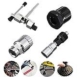 自転車修理工具 工具セット 4 in 1 タイヤ修理 スプロケット 工具 マルチツール