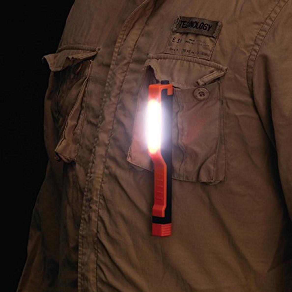 並外れた青駅クリップハンディライト【 LEDライト 携帯ライト?クリップ?ペンタイプ】(KRB-X1OR)
