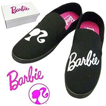 Barbie バービー スリッポン 【ブラック Lサイズ(24~25cm)】 レディース スニーカー 靴 バービー グッズ