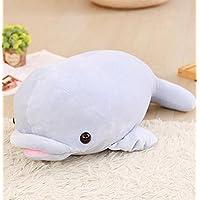 HuaQingPiJu-JP 愛らしいイルカぬいぐるみ動物のイルカプレゼントパーティーギフトドルフィン枕柔らかくかわいいおもちゃ55cm(青)