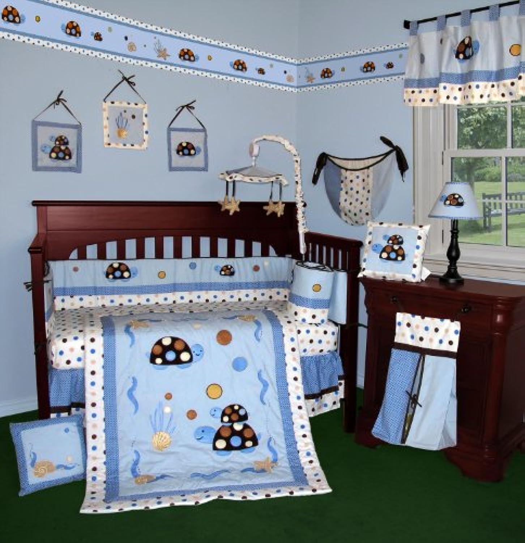 SISI Baby Bedding - Turtle Parade 13 PCS Crib Bedding by Sisi
