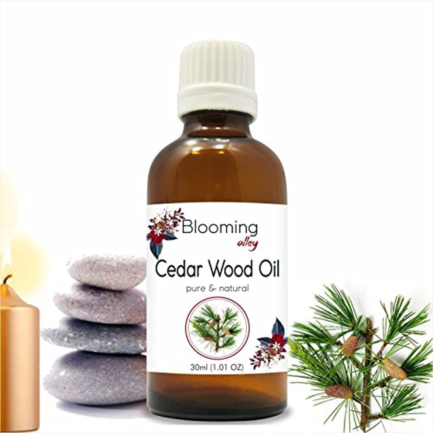 キノコ気質周囲Cedarwood Oil (Juniperus Virginiana) Essential Oil 30 ml or 1.0 Fl Oz by Blooming Alley