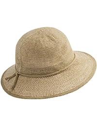 YXI 麦わら帽子春と夏ビッグハットMsバイザーサンプロテクション折りたたみ大盆地帽子 (色 : Brown)