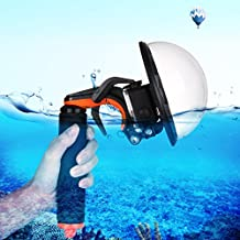 PULUZ Cameras Diving Accessories, Shutter Trigger + Dome Port Lens Transparent Cover + Floating Hand Grip with Adjustable Anti-lost Strap & Screw & Wrench for GoPro HERO6 /5 Cameras
