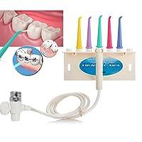 口腔イルリガートル蛇口歯科水デンタルフロス, 歯科スパ水ジェットデンタルフロス歯フロスデバイス歯ブラシセットホーム治療 (5 1 セット)