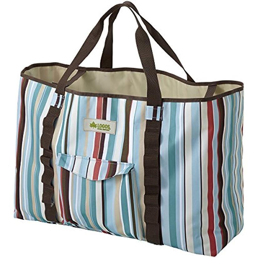 ぼんやりした特権的アンソロジーロゴス (LOGOS) バッグ ストライプ トートバッグ 通勤?通学に