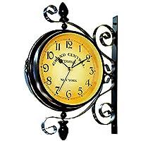【洋風 掛け時計 ニューヨーク クロック】 インテリア 壁掛け時計 アメリカ インテリア雑貨 【40×40×22cm】