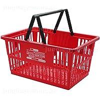 レジかご 買い物かご ブックラバーズ BOOK LOVERS マーケットバスケット Lサイズ レッド 赤 大きい ビッグ