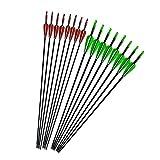 30インチ6mm 弓矢 ガラス繊維矢 弓矢用道具 アーチェリー用弓矢 6・12セット 練習 狩猟
