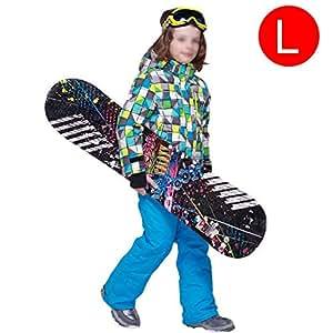 Easylifee スノーボードウェア キッズ 上下セット スキーウェア ボーイズ ガールズ 防風 保温 アウター ジャケット 多機能 釣り スキー 登山ウェア バイク用