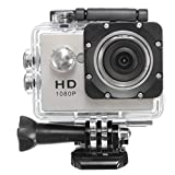 Topjoy 多機能スポーツカメラ 1080P 12MP 2インチLCDスクリーン 30m防水 140度広角レンズ 多機能ビデオカメラ アアクセサリキット付き スポーツや空撮に最適 (シルバー)