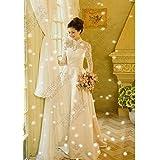 HS210 Lサイズ ウェディングドレス Lサイズ ウィンター ドレス プリンセス Aライン エンパイア マーメイド 結婚式 演奏会 二次会