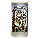 さくらほりきり 手作りキット LEDあかりアート (リーフ型) 夜空のふくろう 巾13.5×奥行7.5×高さ28.5cm