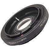 XCSOURCE レンズマウントアダプター Canon FD FLレンズ→EOS EFマウントボディ5D /6D/7D/700D/1000D/600D/60D/50D/1000D用 光学ガラス/キャップ付き DC263
