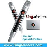SingMasters Magic Sing Spanish Karaoke Player,1402+ Spanish Songs,13000+ English Songs,Dual Wireless Microphones,Youtube Compatible,HDMI,Song Recording,Karaoke Machine